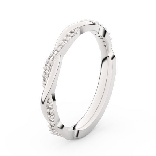 Zlatý dámský prsten DF 3951 z bílého zlata, s briliantem