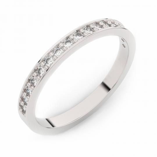 Zlatý dámský prsten DF 3979 z bílého zlata, s briliantem