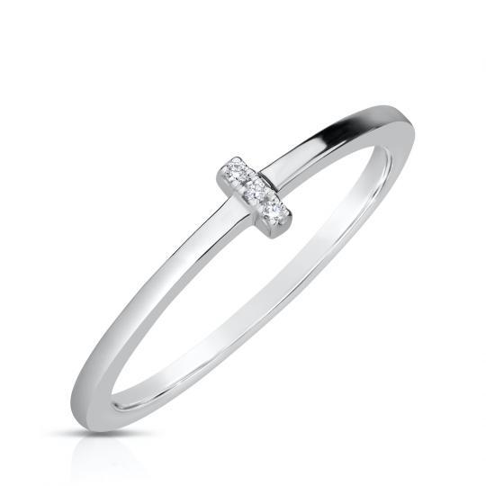 Zlatý dámský prsten DF 4448 z bílého zlata, s brilianty