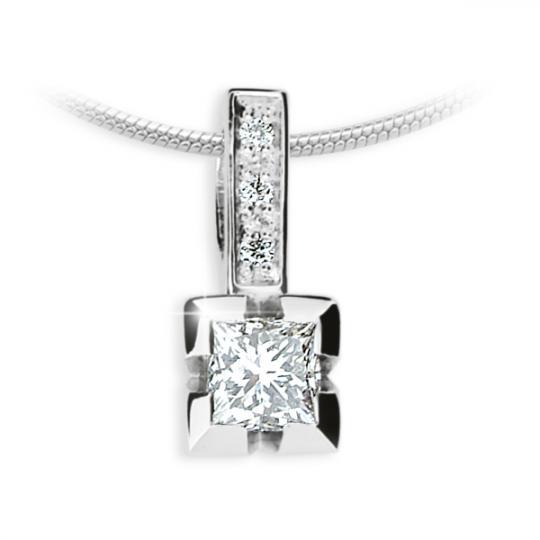Zlatý přívěsek DF 1922, bílé zlato, s diamantem