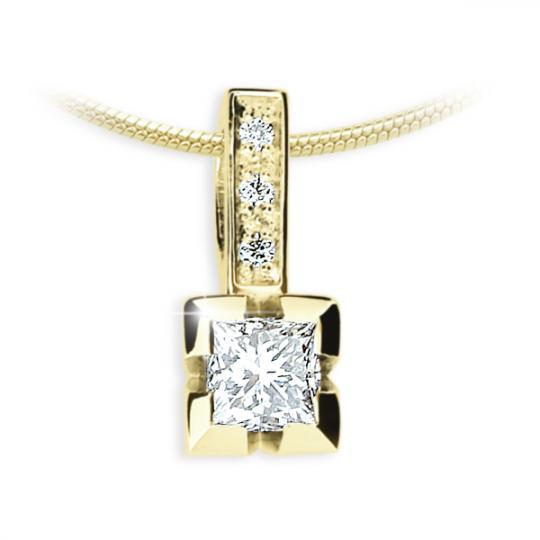 Zlatý přívěsek DF 1922, žluté zlato, s diamantem