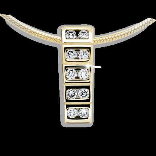 Zlatý prívesok Danfil DF2058, žlté zlato s briliantom