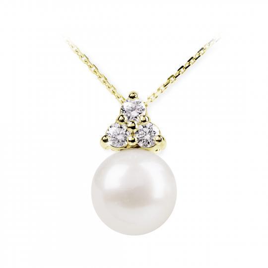 Zlatý prívesok s perlou DF 2666, žlté zlato, sladkovodné