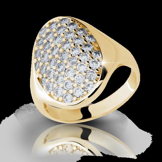 Zlatý prsteň Danfil DF1901 zo žltého zlata s briliantom