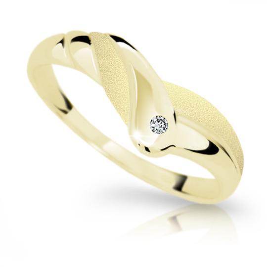 Zlatý prsten DF 1841 ze žlutého zlata, s briliantem