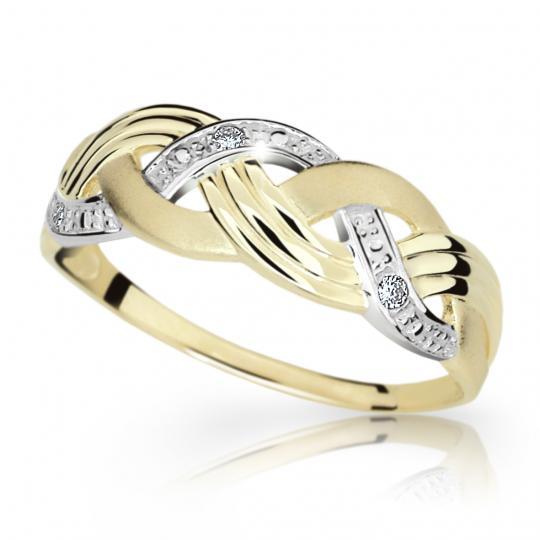 Zlatý prsten DF 1848 ze žlutého zlata, s briliantem