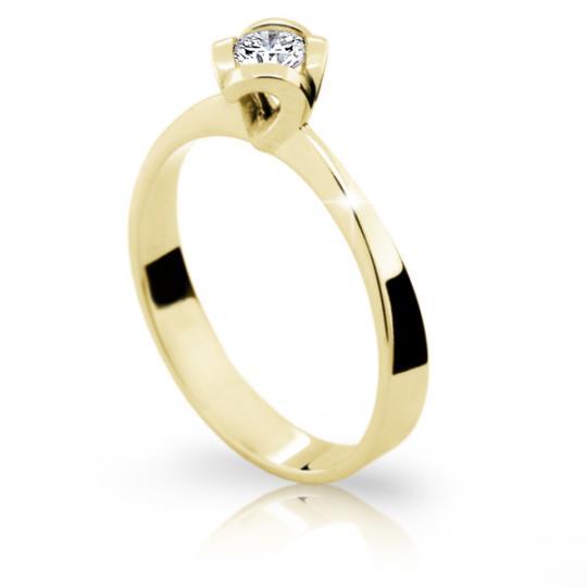 Zlatý prsten DF 1857 ze žlutého zlata, s briliantem