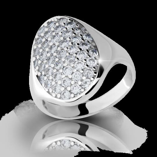 Zlatý prsteň DF 1901 z bieleho zlata, s briliantom