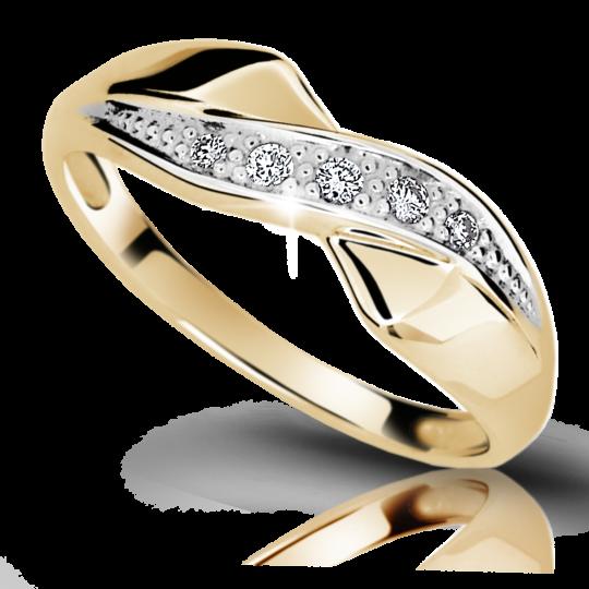 Zlatý prsteň DF 1915 zo žltého zlata, s briliantom
