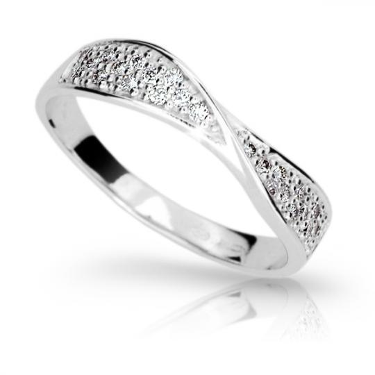Zlatý prsteň DF 1949 z bieleho zlata, s briliantom