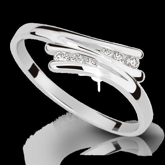 Zlatý prsteň DF 1950 z bieleho zlata, s briliantom