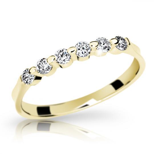 Zlatý prsten DF 1951 ze žlutého zlata, s briliantem