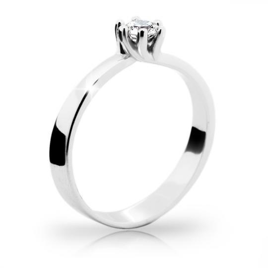 Zlatý prsten DF 1960 z bílého zlata, s diamantem
