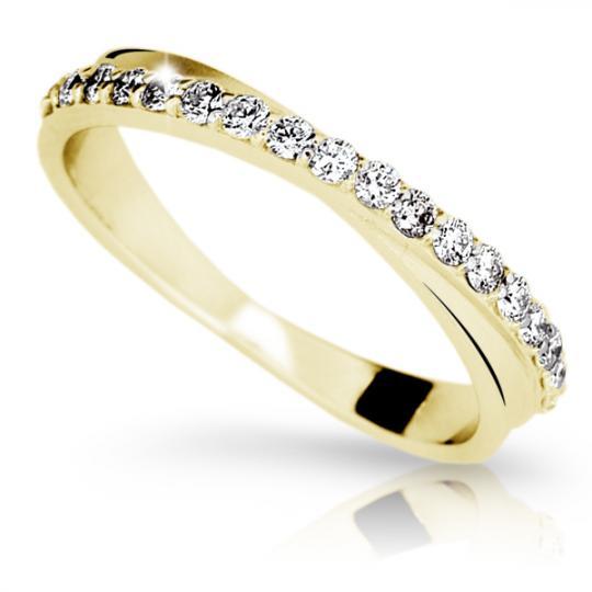 Zlatý prsten DF 1972 ze žlutého zlata, s briliantem