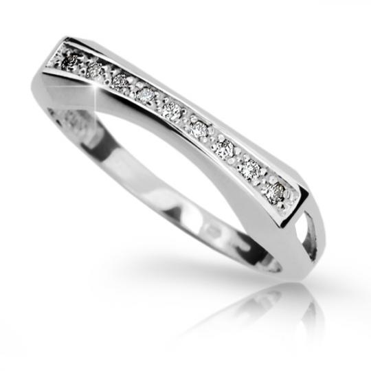 Zlatý prsten DF 2007 z bílého zlata, s briliantem