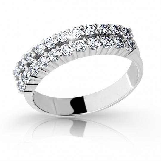 Zlatý prsten DF 2073 z bílého zlata, s briliantem