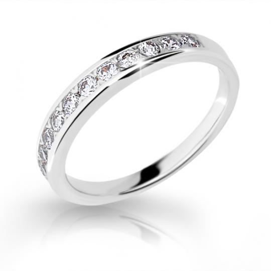 Zlatý prsten DF 2147 z bílého zlata, s briliantem