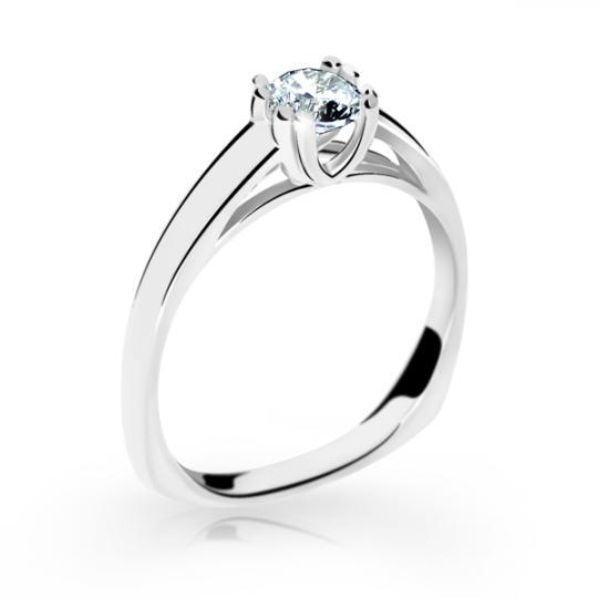 Zlatý prsten DF 2184 z bílého zlata, s diamantem