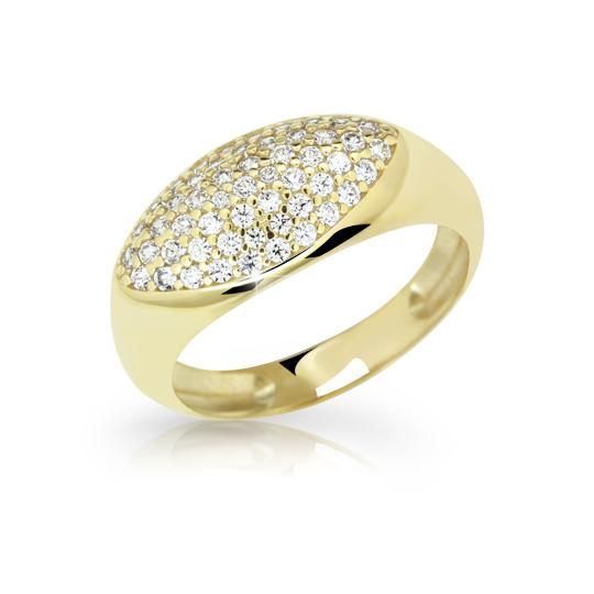 Zlatý prsten DF 2516 ze žlutého zlata, s briliantem