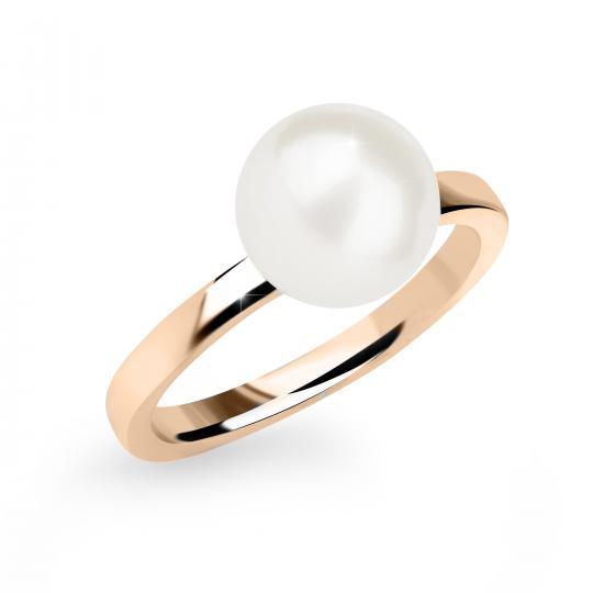 Zlatý Prsten S Perlou DF 2658 z růžového zlata, sladkovodní perla