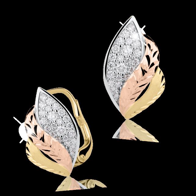 9f5bd2500 Zlaté dámské náušnice DF 2992, briliantové, žluté zlato | Brilianty.cz