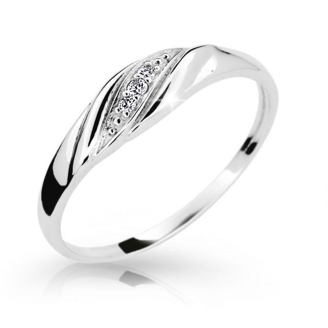 Zlatý prsten DF 2084 z bílého zlata 762ac770597