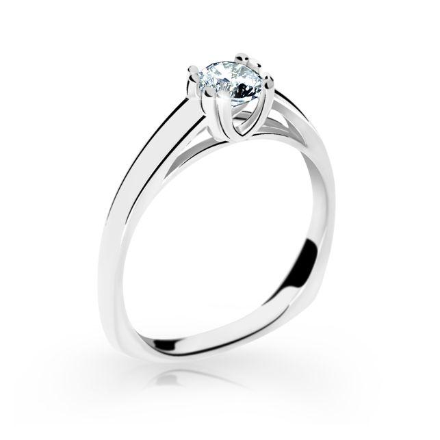 8723ced06 Zlatý prsten DF 2184 z bílého zlata, s diamantem | Brilianty.cz