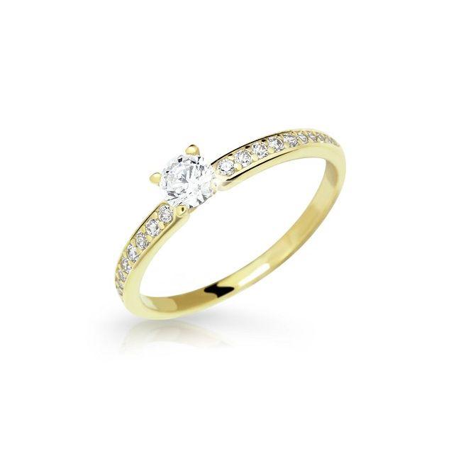 Zlatý prsten DF 2523 ze žlutého zlata 98da911446c