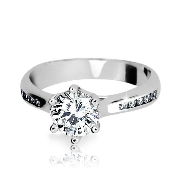 040fd6ba7 Zlatý zásnubní prsten DF 1886, bílé zlato, s diamantem | Brilianty.cz