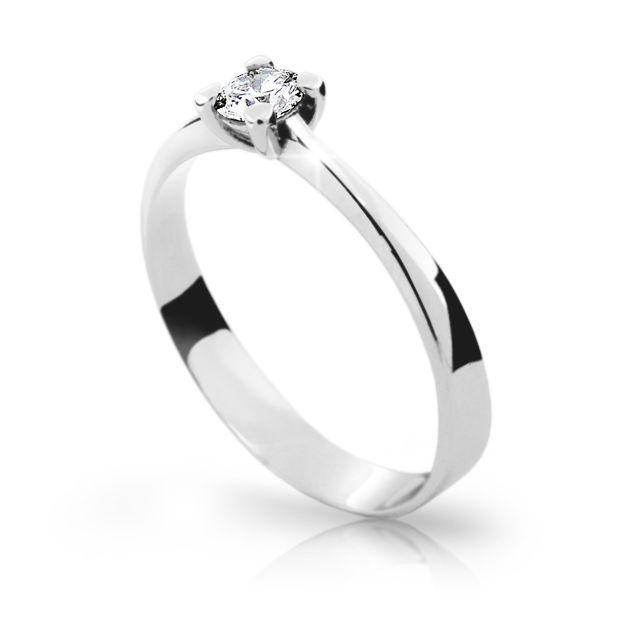 353e3c532 Zlatý zásnubní prsten DF 1905, bílé zlato, s briliantem | Brilianty.cz