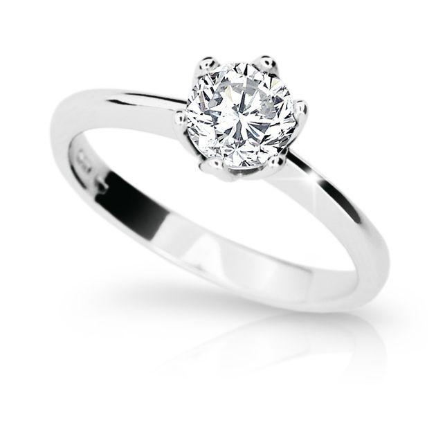 4b5a5bc59 Zlatý zásnubní prsten DF 1959, bílé zlato, s diamantem | Brilianty.cz