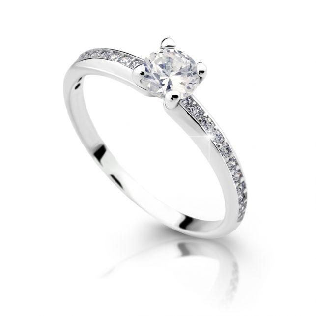 75082465d Zlatý zásnubní prsten DF 2354, bílé zlato, s diamantem | Brilianty.cz