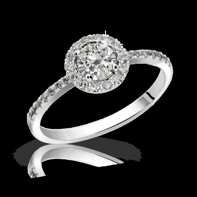 9632cb186 Zlatý zásnubní prsten DF 3098, bílé zlato, s diamantem | Brilianty.cz