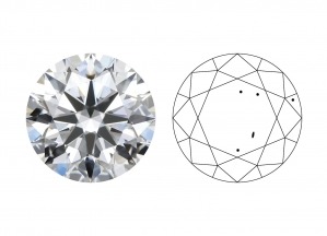 2C - Čistota diamantu (Clarity grade)