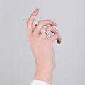 Zlatý prsteň DF 2658 z bieleho zlata, flashwater