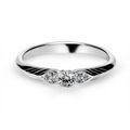 Zlatý zásnubný prsteň DF 3500, biele zlato, s briliantom