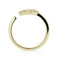 Zlatý dámsky prsteň DF 3587 zo žltého zlata, s briliantom