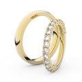 Zlatý dámsky prsteň DF 3903 zo žltého zlata, s briliantom