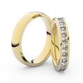 Zlatý dámský prsten DF 3908 ze žlutého zlata, s briliantem