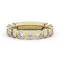 Zlatý dámsky prsteň DF 3901 zo žltého zlata, s briliantom