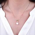 Zlatý přívěsek s perlou DF 2661, růžové zlato, sladkovodní