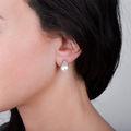 Zlaté perlové náušnice DF 2665, sladkovodné, ružové zlato