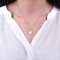 Zlatý prívesok s perlou DF 3155, biele zlato, sladkovodné