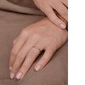 Zlatý dámsky prsteň DF 4441 z ružového zlata, s briliantom