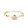 Zlatý dámsky prsteň DF 4210 zo žltého zlata, s briliantom