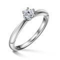 Minerva   Zásnubný prsteň so stredovým diamantom 0.25 ct, biele zlato