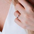 Freya   Zásnubný prsteň so stredovým diamantom 0.25ct, biele zlato
