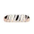 Zlatý dámsky prsteň DF 2098 z ružového zlata, s briliantom