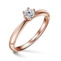 Minerva   Zásnubný prsteň so stredovým diamantom 0.25 ct, ružové zlato