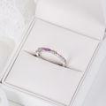 Zlatý dámsky prsteň DF 4918 z bieleho zlata, multicolor